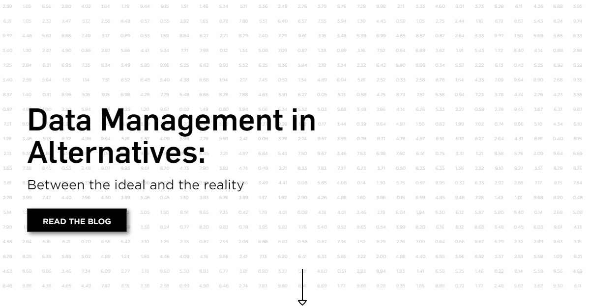 Data Management in Alternatives: Between the ideal and the reality
