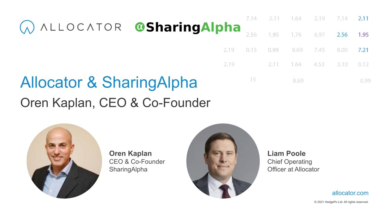 Allocator announces new partnership & collaboration with SharingAlpha
